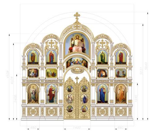 Макет иконостаса Преображенского храма